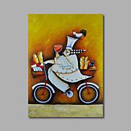 Handgeschilderde Mensen / Abstracte portrettenModern Eén paneel Canvas Hang-geschilderd olieverfschilderij For Huisdecoratie