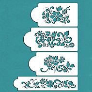 Valentine's Gift Flowers Cake Decorating Cake Design Stencils,ST-228