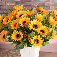 Hedvábí / Umělá hmota Slunečnice Umělé květiny