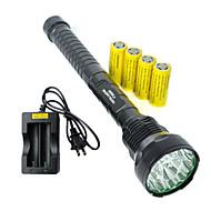 Lanternas LED LED 5 Modo 19000 Lumens Prova-de-Água / Recarregável / Resistente ao Impacto / Emergência / Bisel de Golpe / TáticoCree