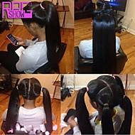 virginal peruana recta sedosa llena del cordón humano pelucas de cabello pelo del bebé se ponytail para los americanos áfrica