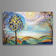 Asetelma / Fantasy / Landscape / Kasvitiede / Moderni / Romantiikka Canvas Tulosta One Panel Valmis Hang , Horizontal