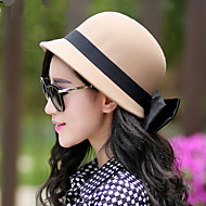Women Fashion Bow Small Bowler Hat