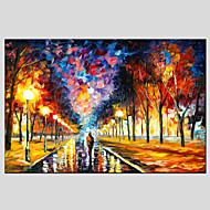 olejomalby moderní krajina deštivé ulice canvas materiál s dřevěnou nosítkách připraven pověsit velikost: 60 * 90cm.