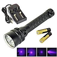 פנס LED - LED - מחנאות/צעידות/טיולי מערות / שימוש יומיומי / רכיבה על אופניים / ציד / דיג / טיולים / טיפוס / חוץ (עמיד למים / ניתן לטעינה