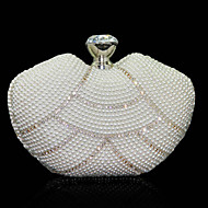 Women Other Leather Type Evening Bag White / Black