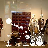 okna window Samolepky obtisky styl velké Nový rok sníh vánoční strom okenní sklo dekorace pvc samolepky