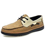 Men's Shoes Outdoor / Athletic / Casual Suede Boat Shoes Blue / Beige