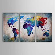 Oil Painting Modern Abstract Landscape Set of 3 Hand Painted Canvas with Stretched Framed