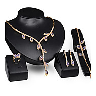 May Polly  Europe and the United States selling party Necklace Earrings Ring Bracelet Set