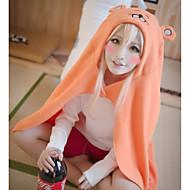 Inspirado por Himouto Cosplay Animé Disfraces de cosplay sudaderas Cosplay Un Color / Estampado Naranja Manga Larga Capa