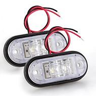 2 X Car Truck Trailer Piranha Led Side Marker Blinker Light Lamp Bulb White 24V