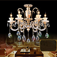 European High - Grade Jade Crystal Pendant Lamp - Room Atmosphere Zinc Alloy Pendant lamp Candle Crystal lamp