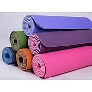 TPE Mats Yoga 183*80*0.8 Non Toxic 8.0 Blu / Verde / Arancione / Viola #