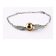 Unisex Harry Potter Wings Golden Snitch Bludger Bracelet