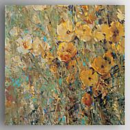 Ručno oslikana Cvjetni / BotaničkiModerna Četiri plohe Platno Hang oslikana uljanim bojama For Početna Dekoracija