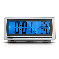 bil f / c termometer klocka larm ledde blå bakgrundsbelysning digital LCD-display 12v
