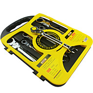 rewin® verktøy 7pcs skralle sett med justerbar hode