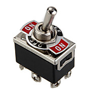 Car Boat DPDT Heavy Duty Metal Tip Toggle ON/OFF Flick Switch 12V