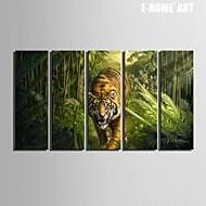 Zvíře Na plátně Pět panelů Připraveno k Pověste , Vertikální