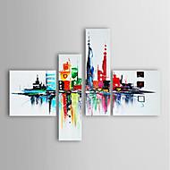 Pintados à mão AbstratoModerno 4 Painéis Tela Pintura a Óleo For Decoração para casa