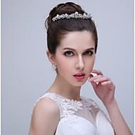 Donne Strass / Acciaio inox / Lega Copricapo-Matrimonio / Occasioni speciali / Casual Fasce 1 pezzo Chiaro Cerchio