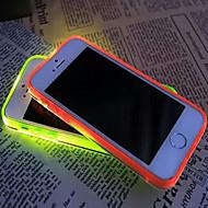 nova chamada viseira levou piscar transparente TPU caso capa Voltar para o iPhone 5 / 5s (cores sortidas)