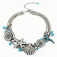 Luxurious Women's Imitation Pearl / Alloy / Rhinestone / Resin Necklace Pendant Necklaces