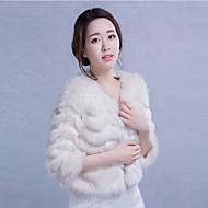 웨딩 / 파티/이브닝 / 캐쥬얼 인조 캐쉬미어 코트 / 재킷 3/4 길이 소매 결혼식 랩 / 퍼 코트