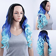 Fashionable Cosplay Party Wig Long Curly Lace Front Quality Synthetic Wigs