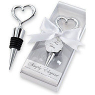 Heart Wine Bottle Stopper in Elegant Box Party Souvenir