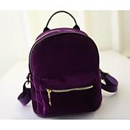 Women Other Leather Type Bucket Backpack - Purple / Gray / Black / Burgundy