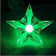 3.7cm święta kolorowe dekoracyjne mała lampka nocna / można wkleić pięcioramienną gwiazdę noc światło lampy LED 1szt