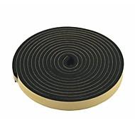 Tira selada 2 pcs 5 metros 20mm de extensão de ar de espuma preta para a porta de carro