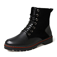 Men's Shoes Outdoor / Athletic / Casual Leather / Leatherette / Rubber Boots Black / Brown