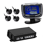 Car LCD Display Reverse Backup Radar Rear System with 4 Parking Sensors Black