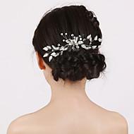 Kobiety Flower Girl Pearl imitacja Winieta-Ślub Piękny Hair Combs 1 sztuka
