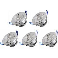3W תאורה בשקעים 3 לד בכוח גבוה 350 lm לבן חם / לבן קר AC 100-240 V חמישה חלקים
