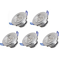 3W Zápustná světla 3 High Power LED 350 lm Teplá bílá / Chladná bílá AC 100-240 V 5 ks