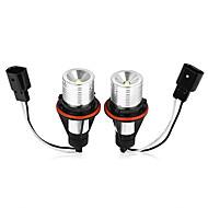 2 Angel Eyes canbus ljusa vita LED halo ring glödlampor för BMW E39 e65