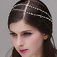Dame / Blomsterpige Rhinestone / Imitert Perle Headpiece Bryllup / Spesiell Leilighet Pannebånd Bryllup / Spesiell Leilighet 1 Deler