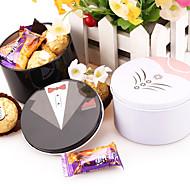 비 개인화 - 웨딩 - 클래식 테마 - 기프트 박스 ( 블랙 / 화이트 , 금속 )