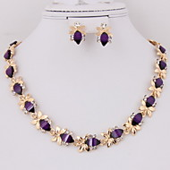 Gold-plated New Fashion resin trendy (Including Necklace, Earring) Jewelry Sets