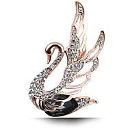 pequeña novia cisne broche de cristal de diamante de la boda