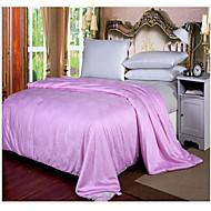 Cotton Jacquard Bedding 100% Silk Quilt Spring/Autum Comforter Silk Net Weight 2000g Four Sizes White / Pink / Beige