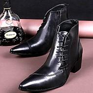 מגפיים גברים של נעליים שטח / קז'ואל / מסיבה וערב עור שחור