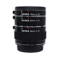 KK-C68 Metal Copper Auto Focus AF Macro Extension Tube Tet for Canon 70D 5D2 5D3 7D 6D 650D 600D 550D