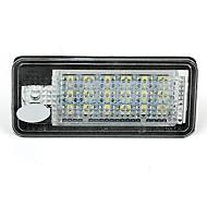 2 branco LED 18 3528 SMD luzes da matrícula de lâmpadas lâmpadas para audi a3 a6 4f 8p