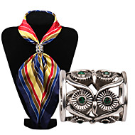 Vintage Hollow Out Owl Scarf Buckle