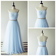 Formal Evening Dress - Pool A-line Sweetheart Floor-length Tulle